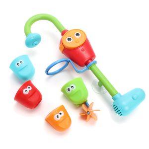 Bärbar Härlig Badkar Elektrisk Barnleksak Med Vatten Sprinklersystem