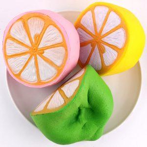 SanQi Elan Squishy Jumbo Citron 11cm Långsam Rising  Frukt Samling Decor Present Toy