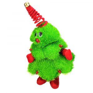 Dansande 16 tums julgransdekoration fylld plysch leksak sjunger docka julklapp