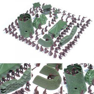 100st 3CM Army Combat Men Barn Leksaker Soldiers Militär Plast Figur Action