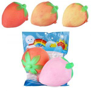 Temperaturkänslig Squishy Jordgubb Byt färg 8cm Frukt Långsam Rising Toy Collection