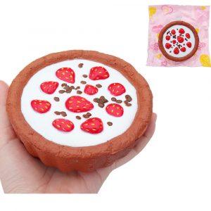 Choklad Jordgubbskaka Squishy 12 * 4cm långsammare med Packaging Collection Present Soft Toy