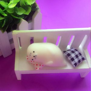 Sleeping Seal Squishy Squeeze Toy Söt Healing Kawaii Collection Stress Reliever Present Decor