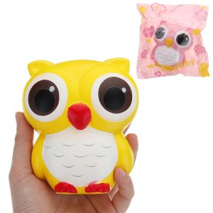 Owl Squishy 11,5 * 10cm långsammare med Packaging Collection Present Soft Toy