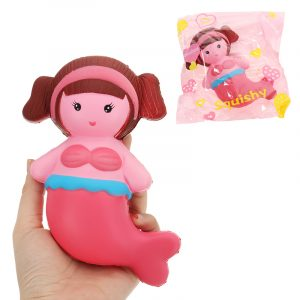 Mermaid Squishy 16 * 9cm långsammare med Packaging Collection Present Soft Toy