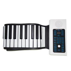 BR-A-88 Keys Uppladdningsbart tangentbord Roll Up Piano med mikrofon högtalare för nybörjare