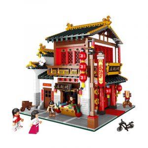 2787st Satin  Store Set  Byggstenar Tegelstenar DIY Modell Leksaker