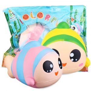 Sanqi Elan 13cm Rainbow Fish Squishy långsam stigande leksak med originalförpackning