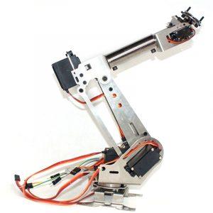 6DOF mekanisk arm 6 Axelrotationsmanipulator Robotarmklemspaket med servo för Arduino