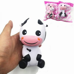 Squishy Baby Cow Jumbo 14cm Långsam Rising With Packaging Djur Collection Present Decor Toy