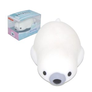 IKUURANI Polar Bear Mochi Squishy Squeeze 7.5x4x2cm  Collection Present Decor Toy