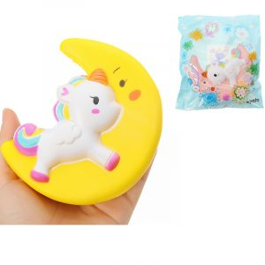 biltoon Unicorn Moon Pegasus Squishy 19cm långsammare med Packaging Collection Present Soft Toy