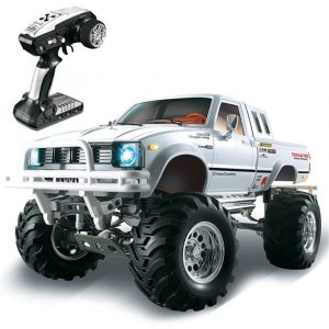 HG P407 1/10 2.4G 4WD Rally Rc Bil för TOYOTA Metal 4X4 Pickup Truck Rock Crawler RTR Toy