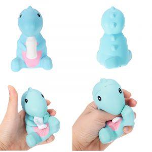 11cm Squishy Dinosaur Babyhållning Mjölkflaska Docka Slow Rising barns Toy Rolig Tecknadduk Brödkaka