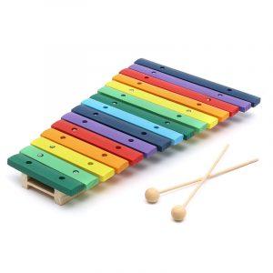 15 Ton Färgstark Trä Glockenspiel Xylofon Pedagogisk Percussion Musical Instrument Toy