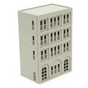 Modeller Järnväg Modern 4-Story Kontorsbyggnad Unpainted Scale 1: 160 N FOR GUNDAM