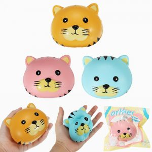 Oriker Squishy Tiger Face Ball Bun 10cm Mjuk Sweet Slow Rising  Collection Present
