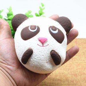 Söt Jumbo Panda Bröd Telefonrem Mjuka Panda Squishy Huvud Charms Cell Phone Key Bag Straps Pendant