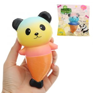 PURAMI Panda Squishy 16cm långsammare med Packaging Collection Present Soft Toy