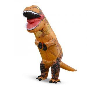 2.2M Dinosaur Uppblåsbara Leksaker Kostymer För 150-190cm Vuxen Halloween Luft Blåsar Upp Kläder Roliga Dräkter