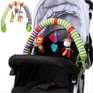 0-12M Barnsäng Leksak Barnvagn Rattlesäte Ta längs resebågsleksaker till barnvagn