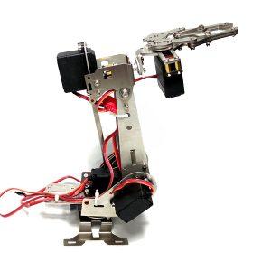 Rostfritt stålmanipulator 5DOF roterande monterad robotarmklämma klämmonterad med 5st servo