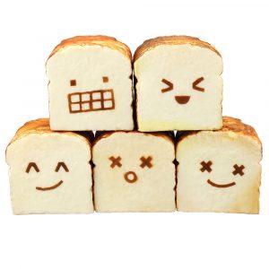 bröd Squishy Toast 8CM Roliga Expressions Jumbo Presentsamling med förpackning