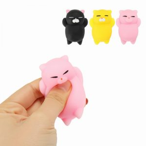Mochi Kattunge Cat Squishy Squeeze Söt Läkande Toy Kawaii Collection Stress Reliever Present Decor