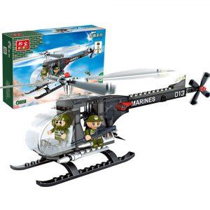 Helikopterplan Pedagogiska Blockerar Bygga Tegelstenar Modell Leksaker