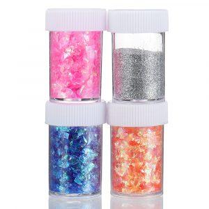 Handgjorda Material Slime DIY Sequins Fluffy Glitter Spela Spel Pedagogiska Toy barns Present