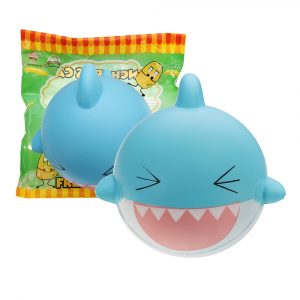 SquishyFun Shark Squishy 15cm Jumbo Licensierad Slow Rising Soft med Packaging Collection Present