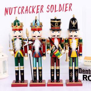 30cm Trä Nötknäppare Docka Soldat Vintage Handcraft Decoration Julklappar