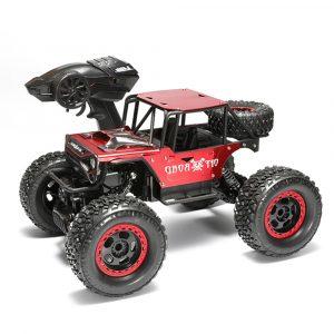 1/14 4WD 2.4G RC Bilar Alloy Speed RC Bil Leksaker Med LED Huvudlampa 3 Motorer