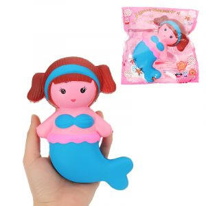 Mermaid Squishy 10,5 * 6cm långsammare med Packaging Collection Present Soft Toy