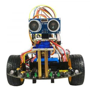 DIY Smart Wifi RC Robot Car Kit Infraröd Evades Obligationer Efter Spårning Med ZYduino Board HD Camer