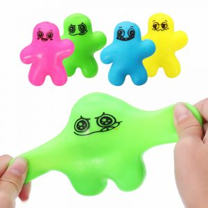 Gullig Squeeze Man Squishy Stretchy Docka 10cm Stress Reliever Dekompressa Gift Decor Toy
