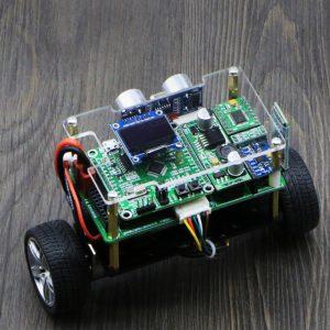 DIY STM32 Smart RC Balans Bil Bluetooth APP Control Ultraljudshinder Undvikande Följande läge med OLED-skärm