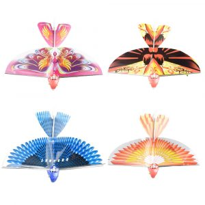 10.6Inches Electric Flying Flapping Wing Bird Toy Uppladdningsbara Plane Toy Kids Outdoor Fly Toy