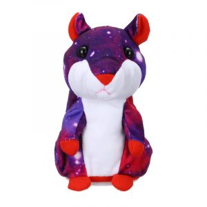Lovely Fylld Talking Hamster Galaxy Plush Toy Söt Talar Talking Sound Record Hamster