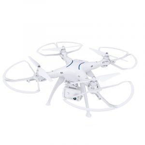 Drönare,FPV Drönare Med 1080P HD-kamera & Dubbel GPS,AOSENMA CG037 Cyc l Ett Borstlös  MIFI, RC Drönare Quadcopter Vit Utan Kamera Version