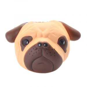 Valphuvud Slow Rising Squishy Bulldog Squeeze Mjukt Leksak Tryck Relief Kawaii Gift