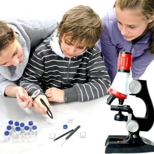 Mikroskop 100X 400X 1200X Zoom biologiska vetenskapliga instrument Educational Kids ScienceToy