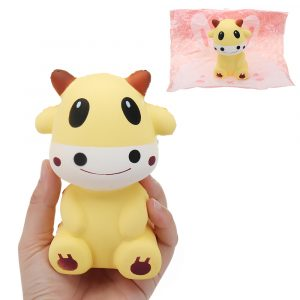Kalv Squishy 6.2 * 10cm långsammare med Packaging Collection Gift Soft Toy