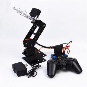 DIY SNAM5000 Aluminous 4DOF RC Robot Arm PS2 Stickkontroll med MG996 Servos