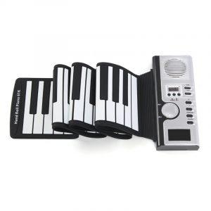 61 tangenter Rulla upp digitalt elektroniskt LCD-tangentbordspiano 128 rytmer Tone MIDI-present