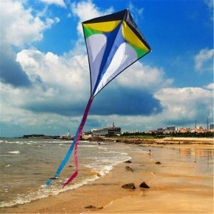 26 '' × 30 '' Diamond Delta Kite Outdoor Sports Leksaker För Kids Single Line Blue Toys