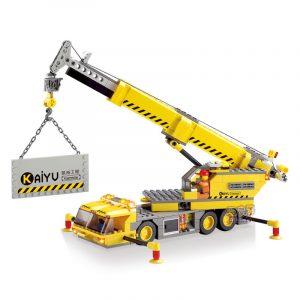 Kazi Teknik Kran Byggnad Blockera Ställer leksak Pedagogisk Gåva 8045 Fidget Leksaker 280st
