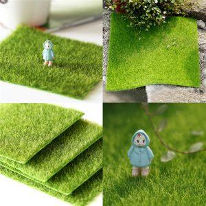 30 * 30cm Konstgjord Faux Garden Turf Grass Lawn Moss Miniature Craft Ekologi Inredning