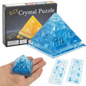 Creative IQ 3D Crystal Pussel Jigsaw Toy Plattor Montering Pyramid Model DIY Leksaker
