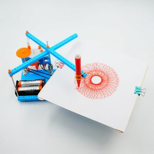 DIY plottning Instrument Leksak DIY Plotter Leksak Robot monterad leksak för ladugård